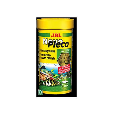 Jbl novopleco chips 250 ml nourriture poisson de fond d for Alimentation poisson aquarium