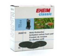 Eheim Coussins de mousse au charbon actif Classic 150 (Eheim 2211) x3