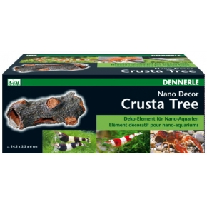 DENNERLE Crusta Tree S Mini-tronc décoratif aquarium 14.5 x 5.5 x 6 cm.