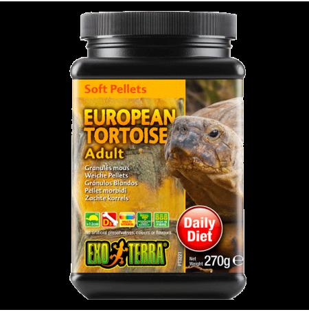 EXO TERRA European Tortoise Adult - Granulés mous - 570 g