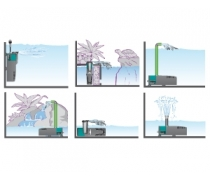 NEWA Filtre Microjet MCF70 Aquarium jusqu'à 70L Débit : 250 l/h