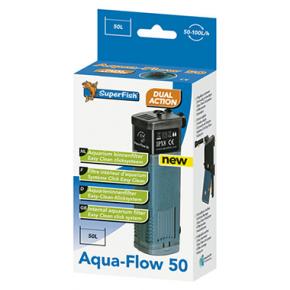 SUPERFISH Filtre AquaFlow 50 Aquarium jusqu'à 50L Débit : 100l/h