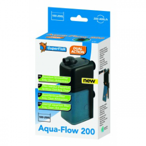 SUPERFISH Filtre AquaFlow 200 Aquarium de 100 à 200L Débit : 500l/h