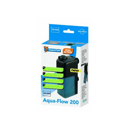 SUPERFISH Filtre AquaFlow 200 Aquarium 100 à 200L Débit : 400l/h