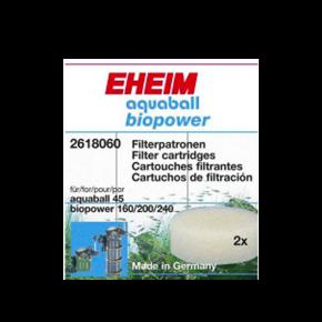 EHEIM Mousse Blanche de Filtration - Pour AquaBall 45 et BioPower 160 - Lot de 2