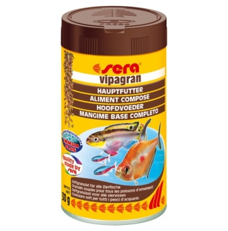 SERA Vipagran 100ml Aliment pour poisson de couches moyennes de l'eau