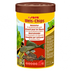 SERA Wels-chips 250ml  Nourriture silures, poissons de fond