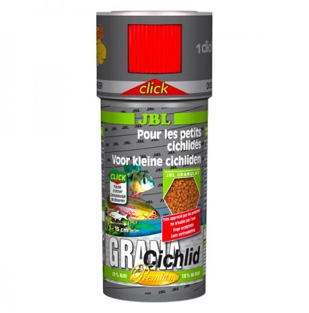 JBL GranaCichlid Click, Nourriture Cichlidés Prédateurs - 250 ml