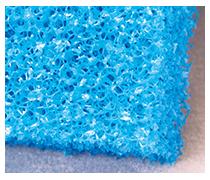 JBL Mousse filtrante bleue maille large 50 x 50 x 10 cm