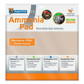 SUPERFISH Ammonia Pad - Mousse pour Filtre - 45 x 25 cm