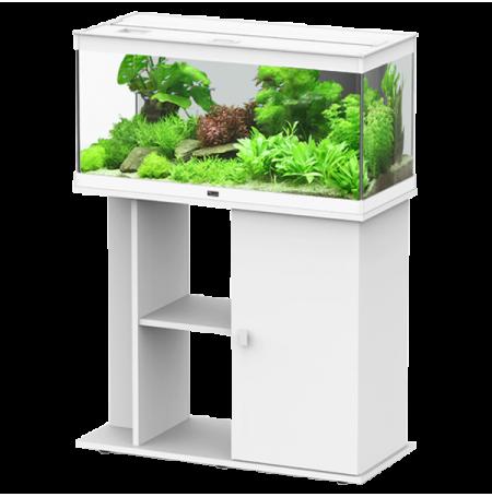 Aquarium AQUATLANTIS Style LED 80 cm + Meuble Blanc Complet - 112 Litres