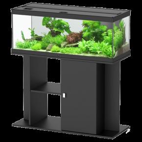 Aquarium AQUATLANTIS Style LED 100 cm + Meuble Noir - 160 Litres