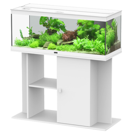 Aquarium AQUATLANTIS Style LED 100 cm + Meuble Blanc Complet - 160 Litres