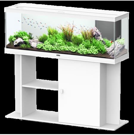 Aquarium AQUATLANTIS Style LED 120 cm + Meuble Blanc Complet - 216 Litres