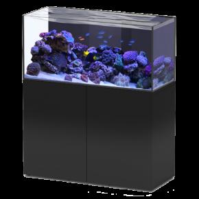 Aquarium AQUATLANTIS Aquaview 120 + Meuble Noir - 330 Litres Eau de Mer - Livraison incluse
