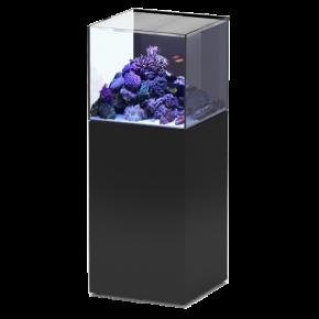 Aquarium AQUATLANTIS Aquaview 50 + Meuble Noir - 113 Litres Eau de Mer - Livraison incluse