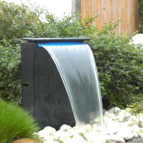 UBBINK VICENZA Fontaine de jardin - Chute d'eau éclairée - 50x35x15 cm - Livraison comprise