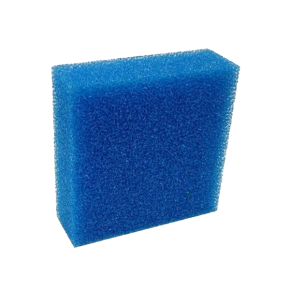 CAPAC Mousse de filtration bleue fine - 9,5 x 9,5 x 5 cm