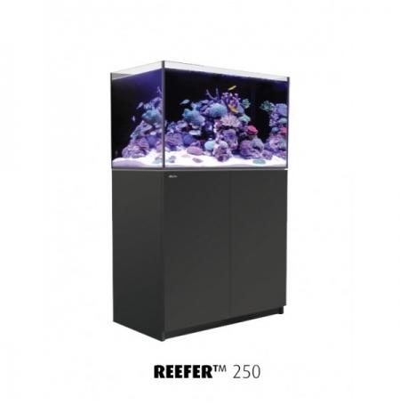 Aquarium RED SEA Reefer 250 + Meuble - Noir + RED SEA Coral Pro 22 Kilos OFFERT