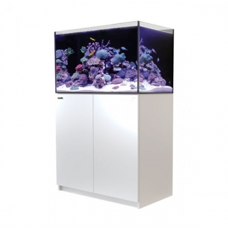 Aquarium RED SEA Reefer 250 + Meuble - Blanc + RED SEA Coral Pro 22 Kilos OFFERT