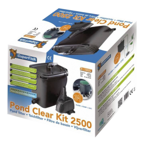 SUPERFISH Pond Clear Kit 2500 - Filtre + UV + Pompe pour Bassin jusqu'à 2500 L