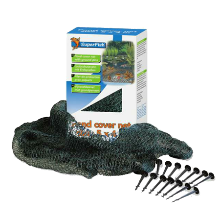 SUPERFISH Filet Protection Bassin 10x6m + 24 piquets