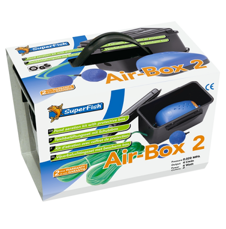 SUPERFISH Air-Box 2, Kit Aération Bassin - 240 L/H