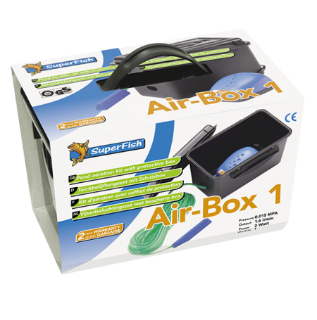 SUPERFISH Air-Box 1, Kit Aération Bassin - 96 L/H