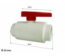Vanne PVC diamètre 20mm - Blanc