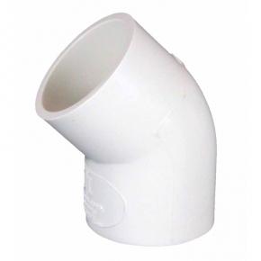 Coude PVC 45° Ø20mm - Blanc