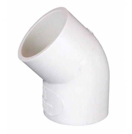 Coude PVC 45° Ø25mm ROYAL EXCLUSIV - Blanc