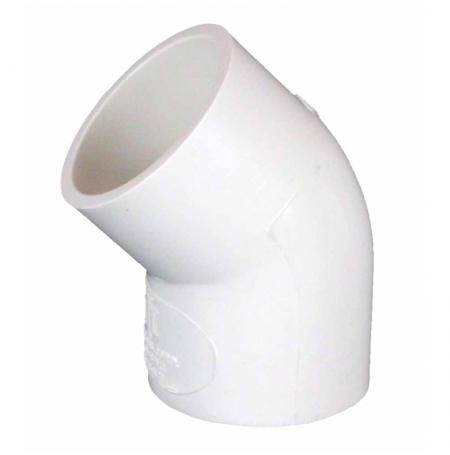 Coude PVC 45° Ø50mm ROYAL EXCLUSIV - Blanc