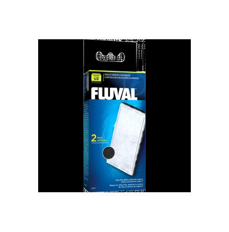 FLUVAL A490 Cartouche de polyester/charbon U2 - Lot de 2