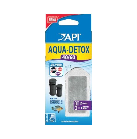 RENA Aqua-Detox 40/60 - Lot de 2 Cartouches pour Filtre SuperClean 40 et 60