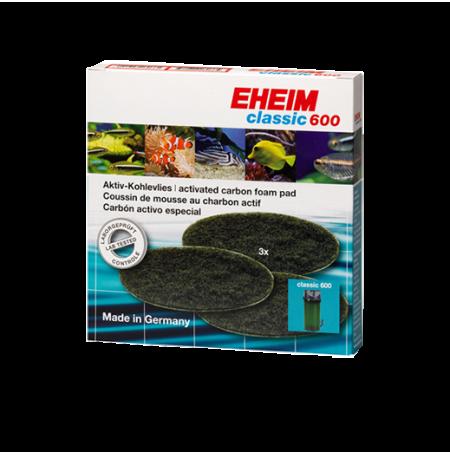 EHEIM Mousses Charbon Actif - Pour Filtre Classic 600