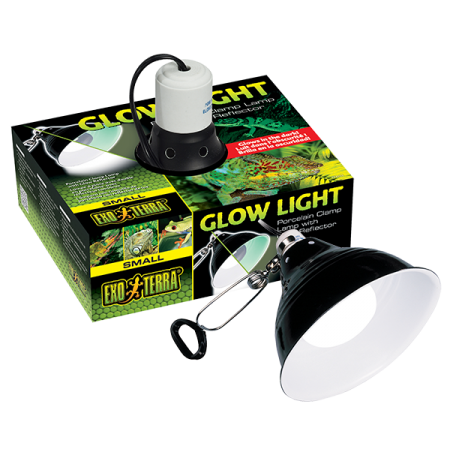 EXO TERRA Glow Light Small, Support à Pince - Ø14 cm - Jusqu'à 100 Watts