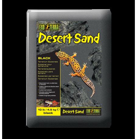 EXO TERRA Desert Sand, Sable Désert Noir - 4,5kg