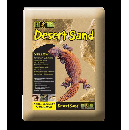 EXO TERRA Desert Sand, Sable Désert Jaune - 4,5kg