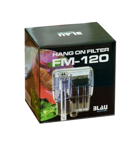 BLAU Hang on Filter FM 120 - Filtre pour aquarium jusqu'à 30 L