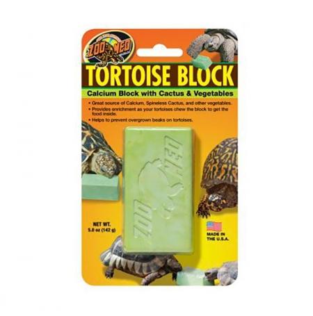 ZOOMED Tortoise Block, calcium, légumes et cactus - 142 g