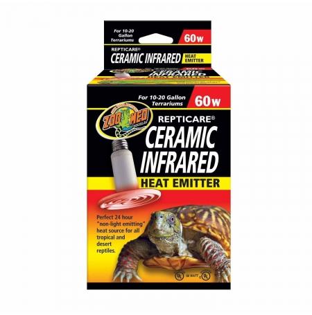 ZOOMED Ceramic infrared, Chauffage pour terrarium - 60 Watts