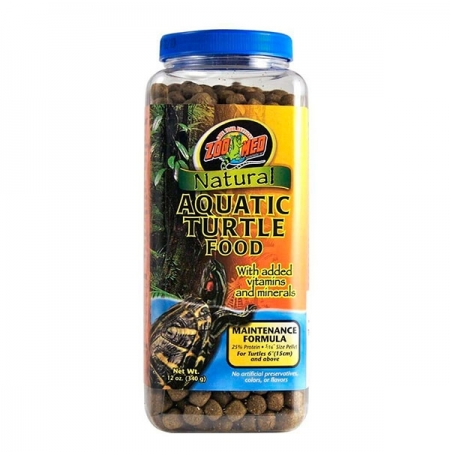 ZOOMED Natural Aquatic Turtle Food - Maintenance, aliment tortues d'eau adultes - 340 g