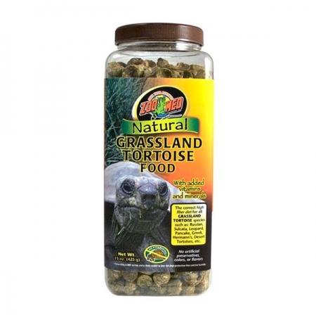 ZOOMED Natural Grassland Tortoise, alimentation tortue terrestre - 425g
