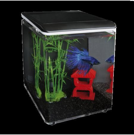 SUPERFISH Home 8 - Aquarium équipé - 8 L - Noir