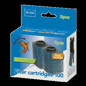 SUPERFISH AquaFlow 100 Filter cartridge Easy Clean - 2 pièces