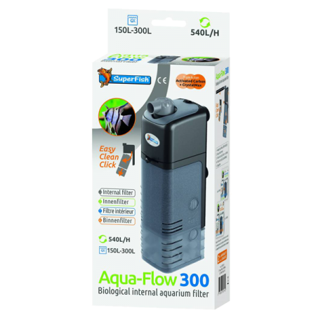 SUPERFISH AquaFlow 300 - Filtre pour Aquarium jusqu'à 300 L