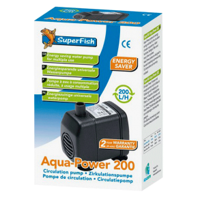 SUPERFISH Aqua Power 200, pompe pour aquarium - Débit : 200 l/h