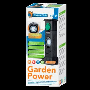 SUPERFISH GardenPower, rallonge 3 prises avec programmateur