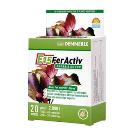 DENNERLE E15 Feractiv - 20 Tablettes