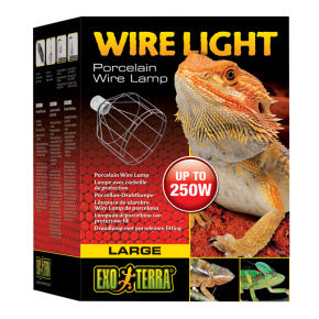 EXO TERRA Wire Light, Support pour lampes de 40 à 250 Watts - Large
